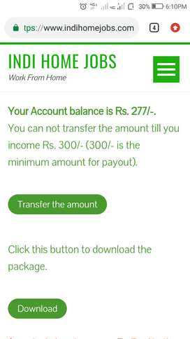 Great chance to earn from home