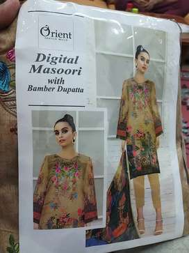 Digital Masoori lawn suit with Bamber Dupatta