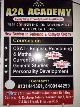 Class 8th and 9th coaching by professionals.
