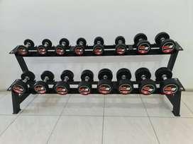 Dumble set + rack 2,5 kg - 20 kg Barbel