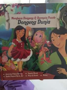 Buku dongeng + puzzle