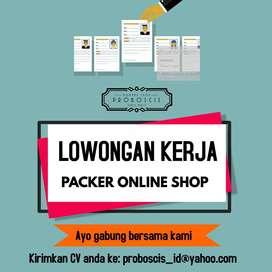 Lowongan Kerja Packing Online Shop + Komputer (Karyawati/Wanita)