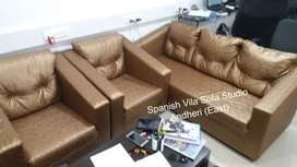 3+1+1 sofa with comfort seat and foam in fabric.