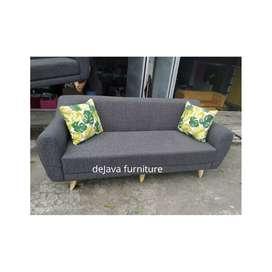 Sofa scandinavian 3 seater cantik murah