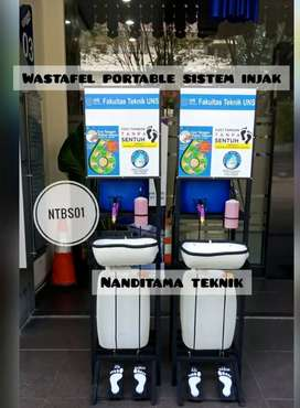 wastafel sistem injak_