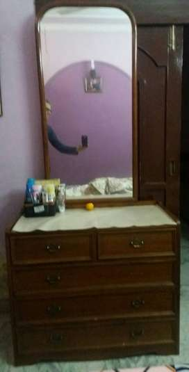 Wooden Dressing Table, 3ft wide.