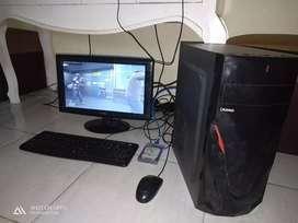 pc core i3 satu set plus monitor