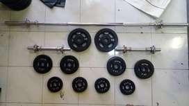 Barbel dumble set stik 1,5mtr. FREE ONGKIR