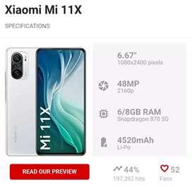 Mi 11x 8GB 128GB sealed Mobile