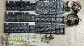 Sony headphone, Dell /HP Keyboard, Mouse Jumbo set  just Rs. 450/-