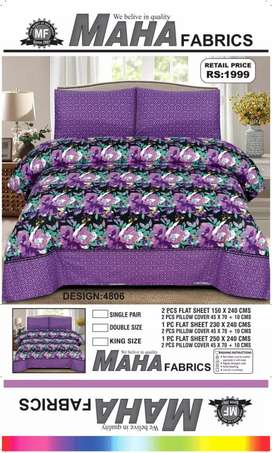 Maha Fabric Bed Sheets Available on 30%Discount