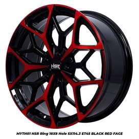 jual velg racing tipe hsr myth01 r18x8 h5x114,3 et 45 bk/red