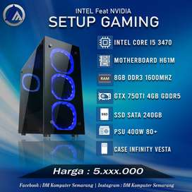 PC Rakitan Gaming Intel I5 3470 VGA GTX 750TI 4GB SSD 240GB Ready