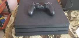 Sony PS4 Pro 1TB black. 4 months old