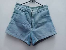 Celana Jeans Hotpants Biru Muda size S/27 Impor Murah