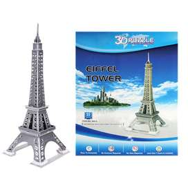 33PC DIY Kid's Puzzle Toy 3D Stereo Eiffel Tower Model DIY Assembled P