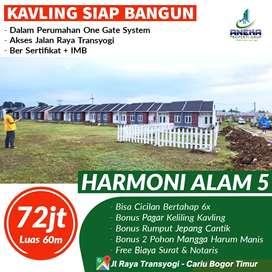 Jual tanah kavling perumahan pinggir jl. Prov 120m² 144jt