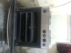 Nas Gas Three Burners plus oven, stainless steel