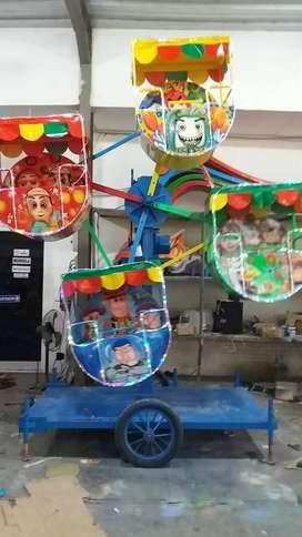 kincir mini gerobak usaha wahana mainan odong 2 ADD