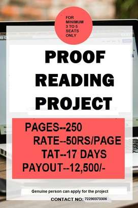Proof Reading and data entry work