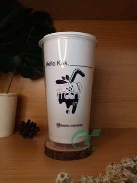 Sablon cup plastik 22oz