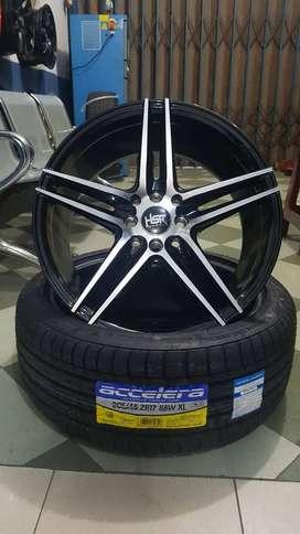 Velg Mobil Racing HSR NE5 Ring 17 Lebar 75 ET40 Untuk Timor Civic Vios