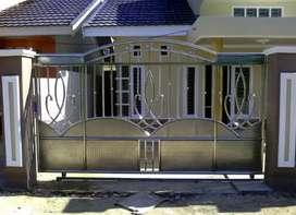 Jasa tukang pasang pintu pagar stainless berbagai tipe upah terjangkau