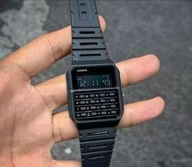 Jam tangan Casio Calculator fullblack original