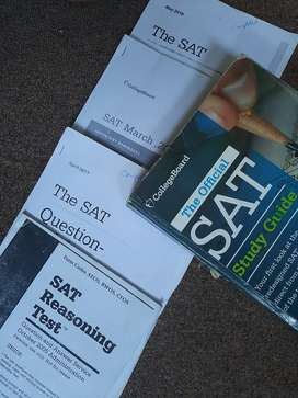 SAT official book with printed real test and pdfs