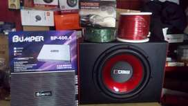 Power 4 chnl+Subwoofeer 12 inchi+Box sub +Tweter+Instalasi+Psng