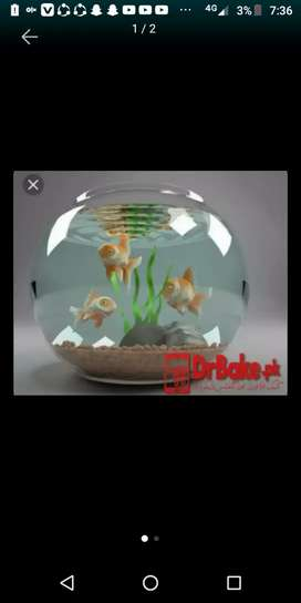Fish bowl with gold fish pair