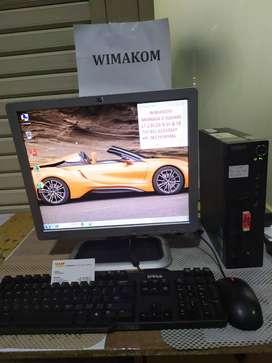 Super Murah 1 set CPU lenovo core i5 monitor 17in keymouse WIFI UNBK