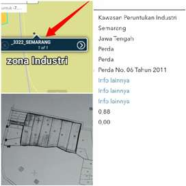 Lahan Industri 2Ha Lokasi Tengaran Kab Semarang 900rb/m2