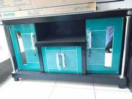 Meja TV murah / Bufet TV pendek murah warna hijau tosca hitam triplek