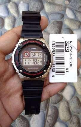 Jam Tangan Casio W-216H Original Anti Air 50M