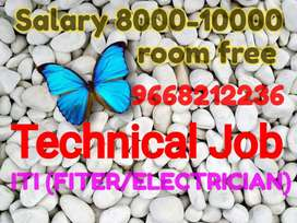 ITI Fitter and Electrician Required