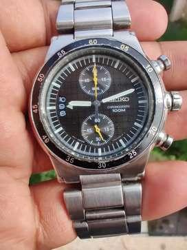 Rare Black Seiko Chronograph Watch for sale. (Seiko,Omega,Rado,Rolex)