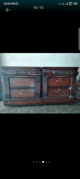 Two wooden drawers