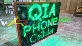 Lampu Running Text Android Garansi 1 Tahun full outdoor