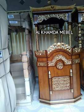 Ready Mimbar Masjid Material Kayu Jati Berkualitas #366