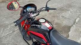 Black Red colour hero honda splendor I smart self start ally wheel Cal