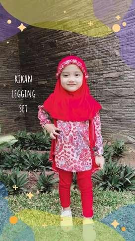 Kikan legging set - setelan batik anak - busana muslim anak cewek