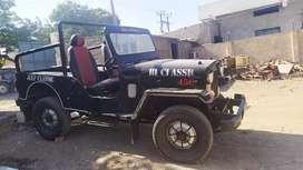 Mahindra jeep original gadi ,new battery, modified exchange available