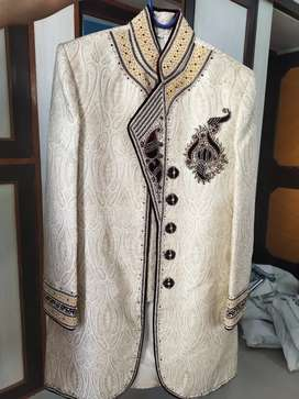 Off white color Sherwani in great condition