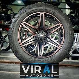 Paket Velg HSR Dan Ban 275/55 MT Mobil Pajero Ring 20 Model Offroad