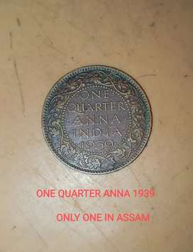 One quarter Anna India 1939