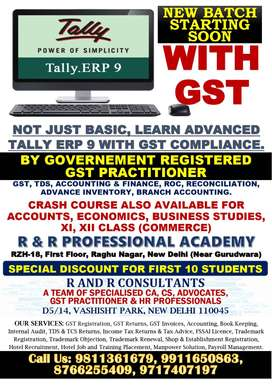 Advance Tally ERP 9 Classes With GST by GST Practitioner
