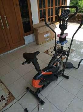 Jual alat olahraga sepeda statis orbitrek plat 6in1