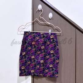 preloved cotton on flowery mini skirt