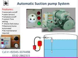 automatic water control system for suction pump